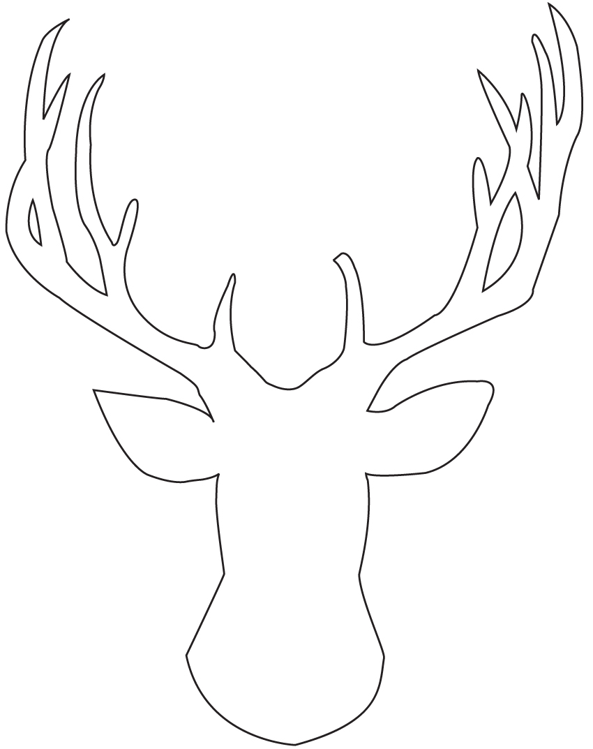 Cartoon Reindeer Head Template String Art On Pinterest